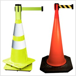 Retractable Belt Cone Toppers